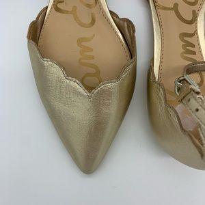 Sam Edelman Shoes - San Edelman Rowan gold flats 6.5 scalloped flats